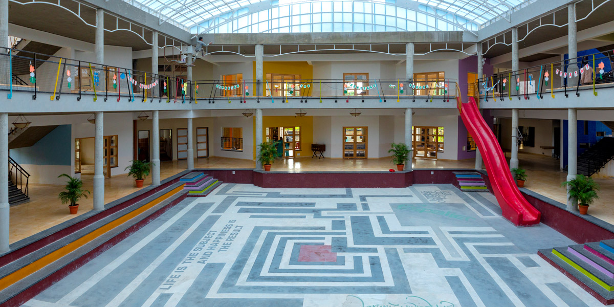 inside the school
